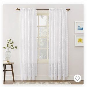 NEW Ivory Lace curtains - Two panels included